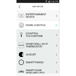 Harmony Smartphone App Interface